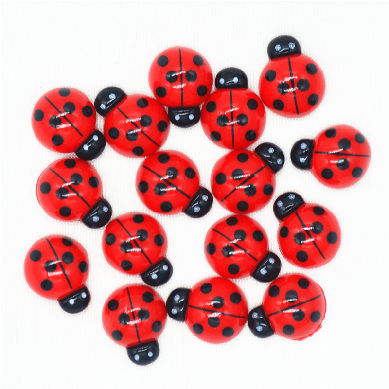 Cute 15mmX19mm Resin Flatback Ladybugs Cabochons|DollHouse Miniatures|Flatback Laybird Miniatures|Hair Bow Center Accessories