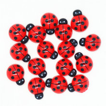 Cute 15mmX19mm Resin Flatback Ladybugs Cabochons|DollHouse Miniatures|Flatback Laybird Miniatures|Hair Bow Center Accessories(China)