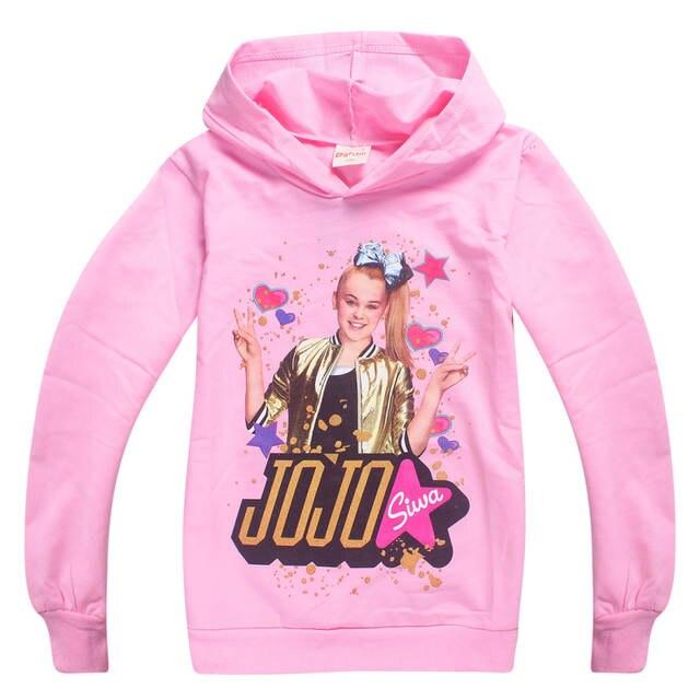 Placeholder JOJO Siwa Girls Full Sleeves Hoodies Sweatshirts Spring Autumn Tops Clothes T Shirt Cosplay Costume