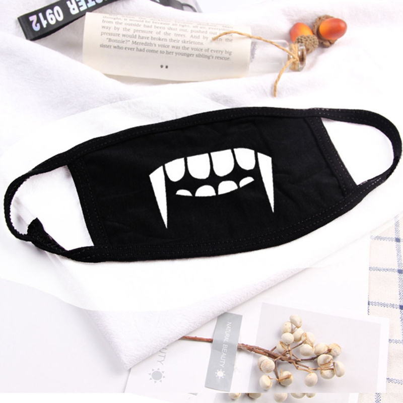 1PC Cotton Dustproof Kids Mouth Face Unisex Korean Style Teeth Smile Anti-Dust Cotton Facial Protective Cover For Kid