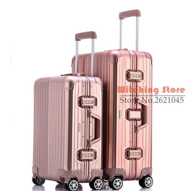20 PULGADAS 2025 # Completo caja de viaje de la venta directa de aleación de magnesio de alta calidad varilla de aluminio rueda universal de todo EL ENVÍO LIBRE