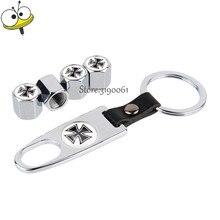 Stems-Caps Keychain Tire-Valve Wheel Stainless Hyundai Dodge Ford Toyota BMW Steel