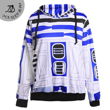 New Arrival Women Sweatshirt Star Wars Printed Hooded Sweatshirt moletom Suit Hoodie Outside Woman Sudaderas