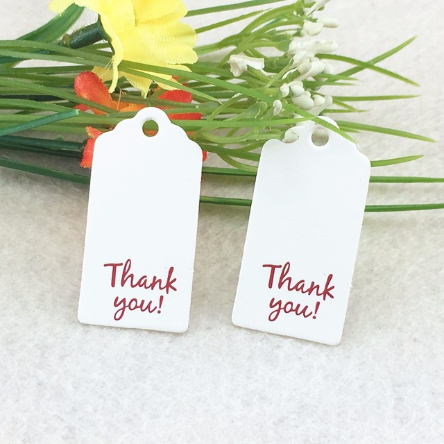 4x2cm 400pcslot Personalized Thank You Wedding Tags Wedding Favor
