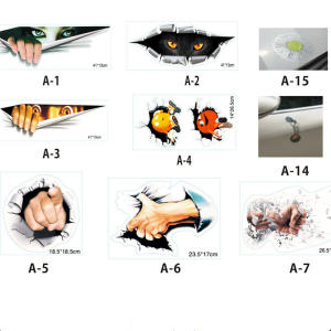 Eyes Peeking Monster Waterproof Car Styling Sticker Decoration