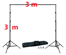 DHL 10Ft X 10Ft FREE BACKGROUND HOLDER 3M X 3M Adjustable Muslin Background Backdrop Support System Stand Kit Carrying Bag dhl free photo studio accessories background support 1 8x2 7m background green white black color muslin 2x2m backdrop stand