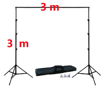 DHL 10Ft X 10Ft FREE BACKGROUND HOLDER 3M X 3M Adjustable Muslin Background Backdrop Support System Stand Kit Carrying Bag - DISCOUNT ITEM  24% OFF All Category
