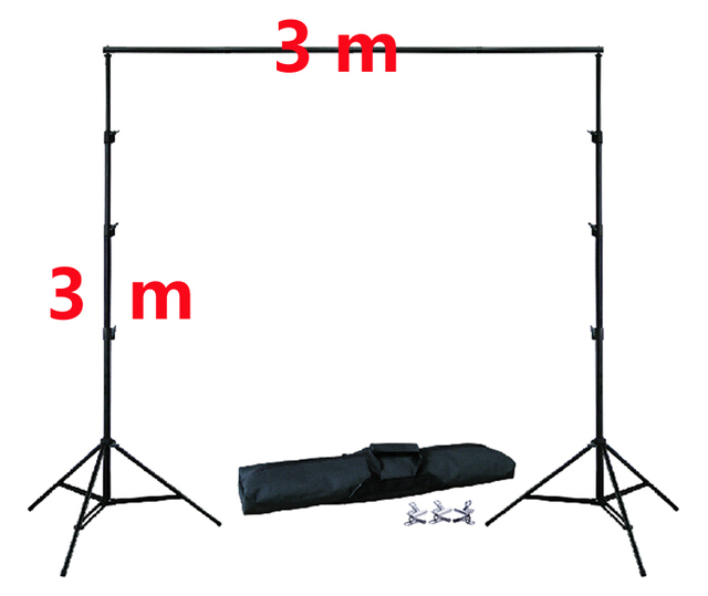 DHL 10Ft X 10Ft FREE BACKGROUND HOLDER 3M X 3M Adjustable Muslin Background Backdrop Support System Stand Kit Carrying Bag