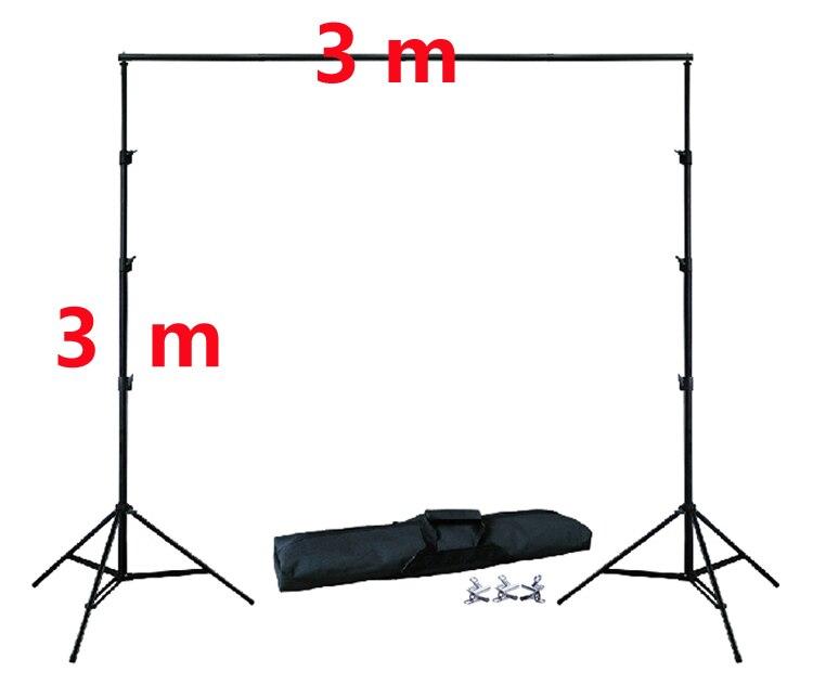 DHL 10Ft X 10Ft FREIES HINTERGRUND HALTER 3 M X 3 M Einstellbare Muslin Hintergrund Hintergrund Support System Ständer Kit tragetasche