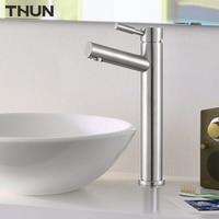 THUN Deck Mounted Single Lever Basin Mixer SUS304 Faucet Bathroom Decoration