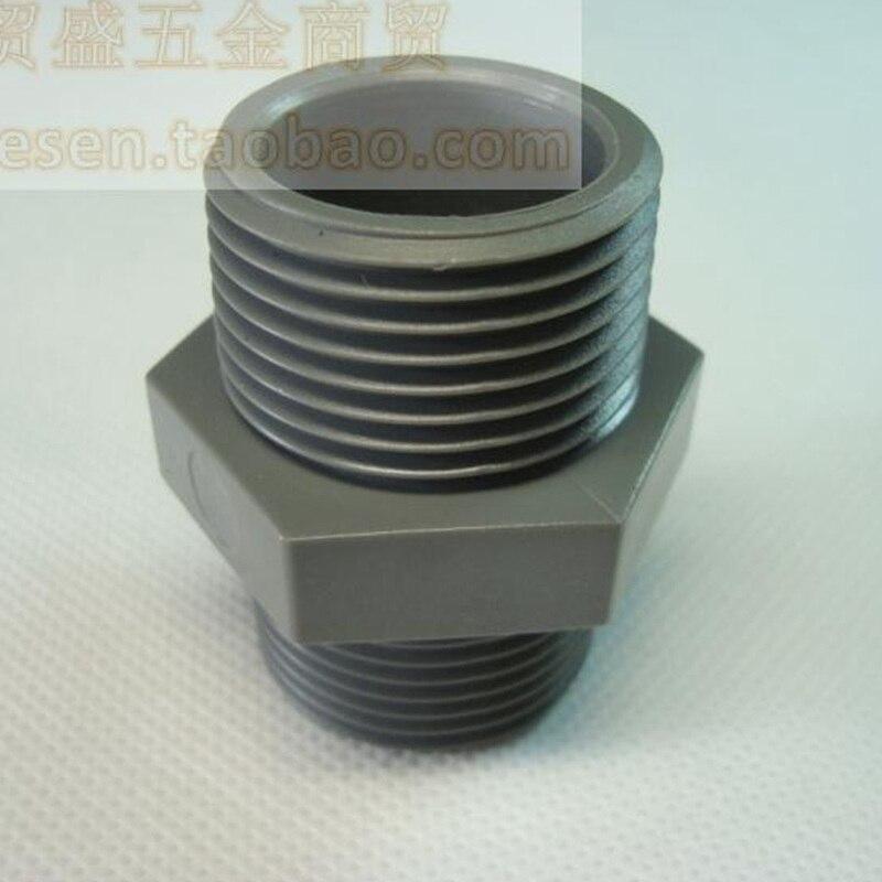 Pcs inch male thread pipe pvc nipple connectors both