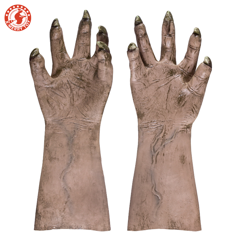 Halloween Props Mens Monster Gloves Latex Long Horror Hands Haunted House Costume AccessoryHalloween Props Mens Monster Gloves Latex Long Horror Hands Haunted House Costume Accessory