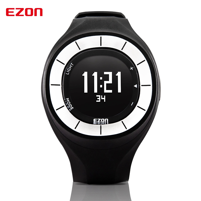 EZON Factory Direct Sale Calories Counter Pedometer Outdoor Sports Watches Digital Watch for Women T028B01 ezon fashion rubber clock women colorful watch sports running watches speed pedometer calories counter digital wristwatch