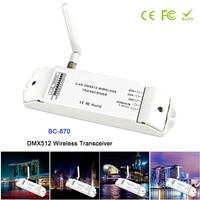 BC-870 DC 5 V-36 V DMX512 Transceptor Sem Fio Multi-uso definido como um receptor de transmissor de sinal DMX ou emissor controlador