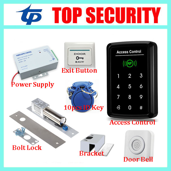 Good quality touch screen keypad 125KGZ RFID card smart proximity card door access control system door controller card reader good quality smart rfid card door access control reader touch waterproof keypad 125khz id card single door access controller