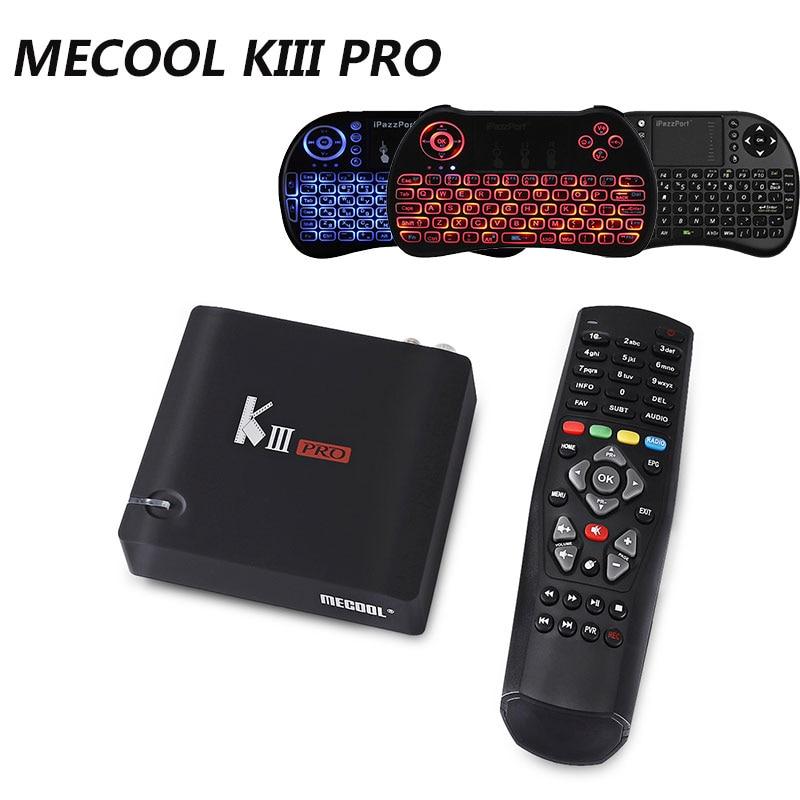 MECOOL KIII PRO Amlogic S912 CPU Android 6.0 OS TV Box 1000M LAN 3GB 16G Bluetooth4.0 12V 1A BCM4335 Dual Band WIFI Media Player kiii amlogic s905 tv box 2g 16g ac wifi gigabit lan kodi bluetooth 4 0