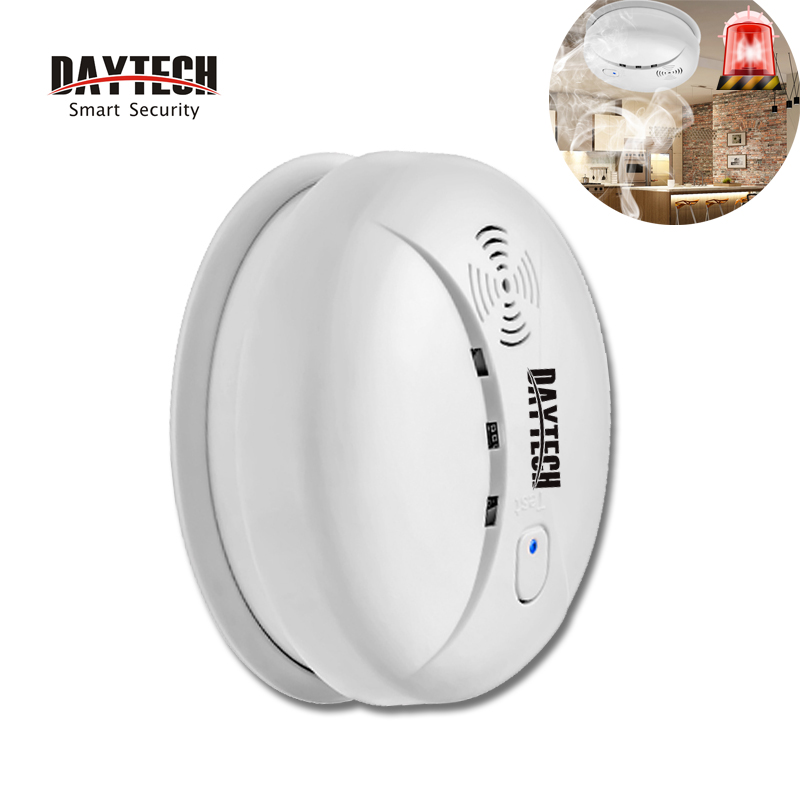 DAYTECH Fire Smoke Detector Alarm Sensor Battery Operate Smoke Alert Sensor For Kitchen/Restaurant/Hotel/Home Security