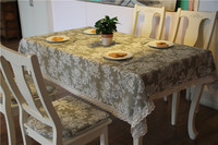 2016 Trendy Pastoral Style Tablecloth Linen Cotton Lace Tablecloth Restaurant Table Cover For Party Picnic Outdoor