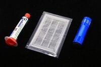 Green BGA Oil Net UV Lamp Welding Fluxes Plastic Net Sheet For All IPhone BGA CHIP