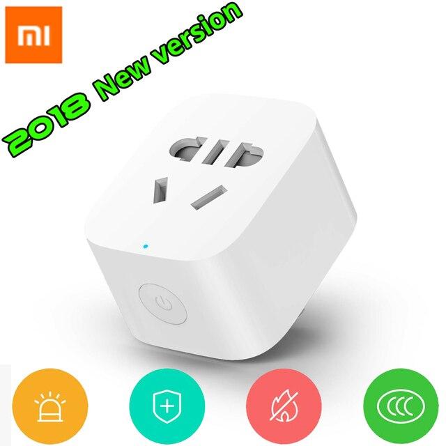 2018 nowy przyjeżdża Xiaomi Mijia inteligentne gniazdo WiFi wtyczka wersja WiFi bezprzewodowy pilot zdalnego włączania i wyłączania zasilania gniazda sieciowego z telefonu