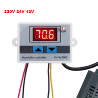 Digital Humidity Controller 220V 12V 24V Hygrometer Humidity Control Switch 0 99 RH Hygrostat With Humidity