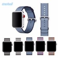 Newest Nylon Strap Band For Apple Watch Band 42mm 38mm Sport Bracelet Fabric Nylon Watchband Watch