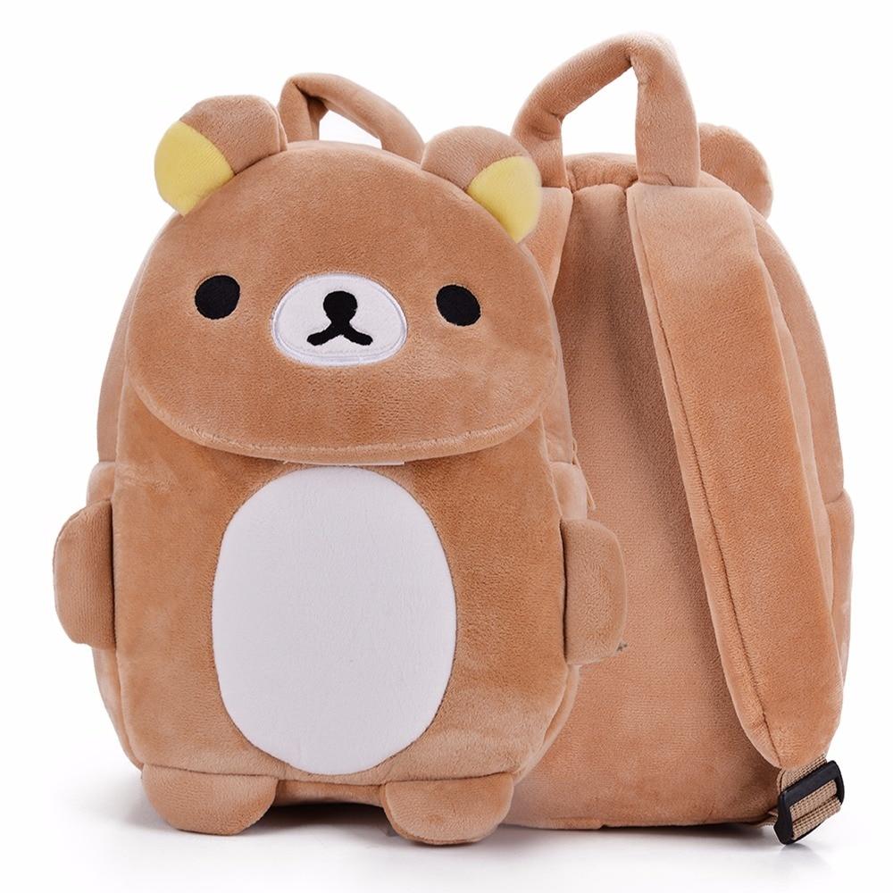 Cartoon Children's Backpacks Kids Zoo Animal Rilakkuma Plush Lovely Backpack Baby Plush Children Bag for Kindergarten3-6Year Old