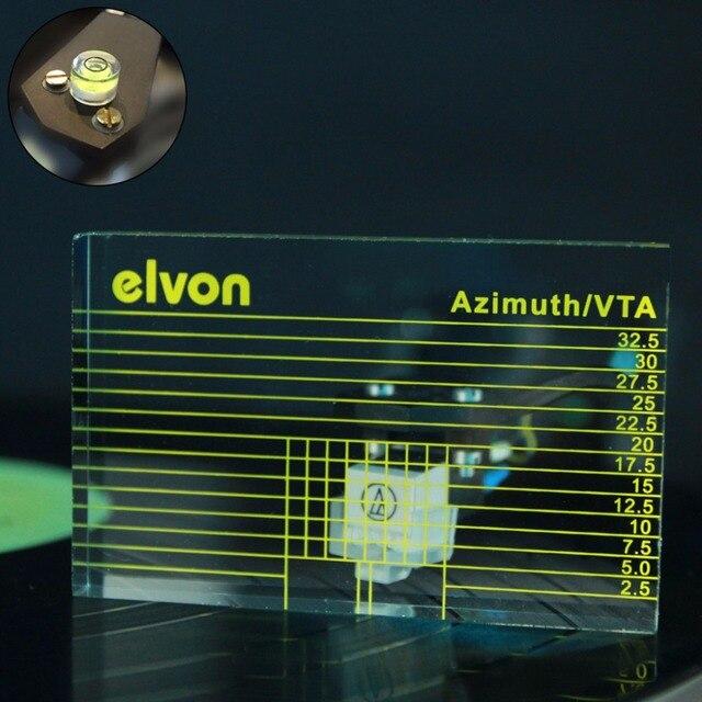 LP Vinyl Record Player Measuring Phono Tonearm VTA/Cartridge Azimuth Ruler w bag