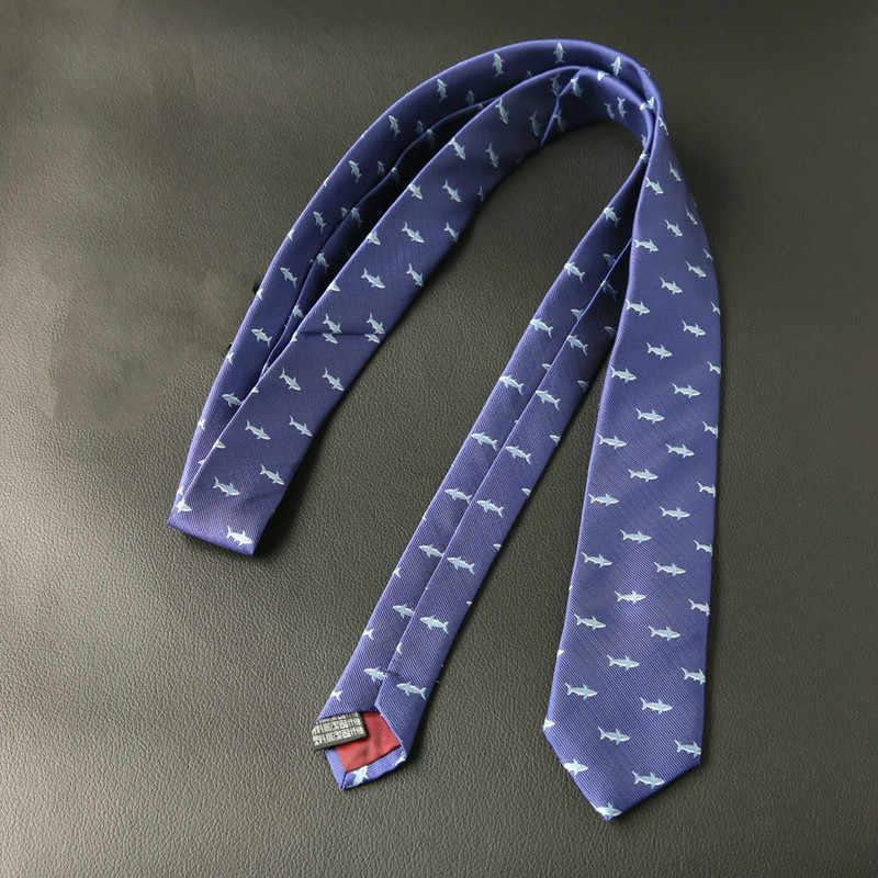 Полиэстеровые жаккардовые галстуки для мужчин животных Галстуки для деловые свадебные костюмы 6 см обтягивающие широкие шеи галстуки тонкие аксессуары