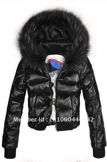 8cd212a77271 Free Shipping Via EMS 2014 New Fashion Ladies  Down leather Coat ...