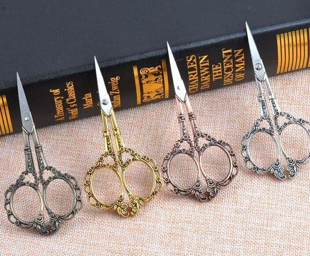 Высокое качество Старинные Ретро Золото Старинной Огранки Ножницы ручной Шитье, Вышивка Ножницы Из Нержавеющей Стали DIY Инструменты Подарок
