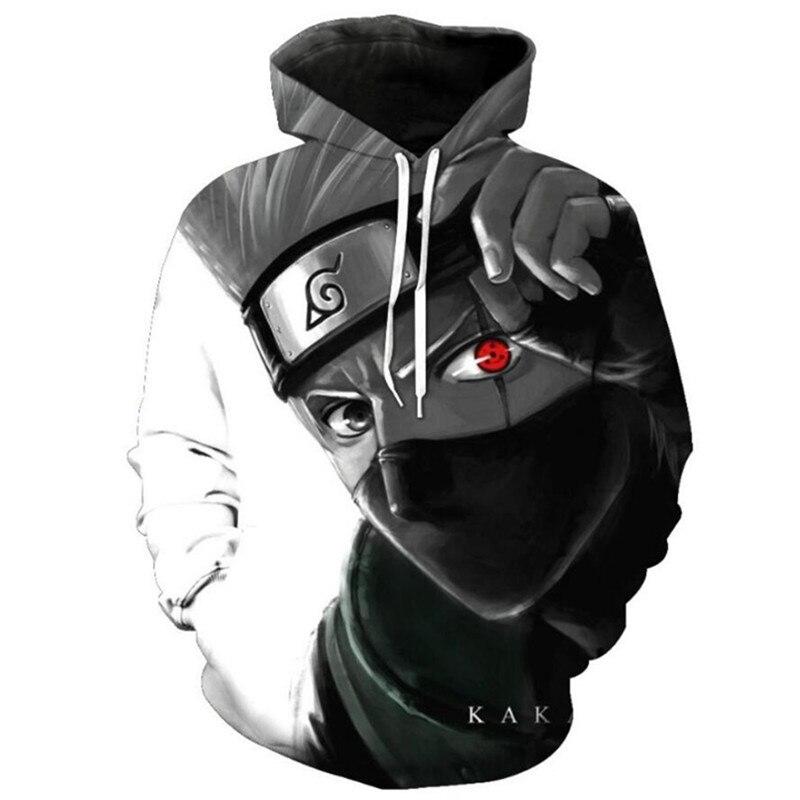 Naruto Mens Sweatshirts Kakashi Akatsuki Sasuke O'Brien 3D Pullovers Long Sleeve Casual Cool Student Boys Daily Streetwear 6xl