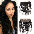 Halo Lady Loose Deep Wave Lace Frontal Closure 13*4,100% Human Hair Free Part Brazilian Virgin Hair Ear to Ear Full Lace Frontal