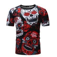 DropshippingNew Men's Casual Short Sleeve T-Shirt Print Abstract Style Men's T-Shirt  US  SIZE недорого