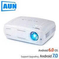 Аун AKEY2 светодиодный проектор, 3500 люмен Обновление Android 7,0 Beamer. Встроенный WI FI, Bluetooth, Поддержка 4 K видео Full HD 1080 P светодиодный ТВ