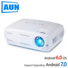 AUN AKEY2 LED Projector, 3500 Lumens Upgrade Android 7.0 Beamer. Built-in WIFI,