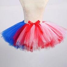 8a24f74dfa Casual Arco Iris Tutu adultos de la falda de la longitud de la rodilla  falda-
