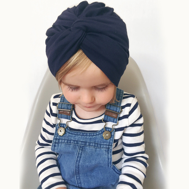 cute Cotton Turban Hat Cross Knotted Head Hats Kids India Beanies Children  Caps For Baby Boys 254a9c7e12b