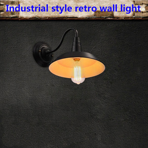 Image 5 - Vintage Wall Lamp Led Light E27 Edison light Loft Retro Iron Paint American Old Style Simplicity Black Pot Cover with Lamp Shade