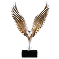 American Abstract Mirs Wings Figurines Resin Ornaments Creative Wings Statue Retro Desktop Crafts Artwork Home Office Decoration