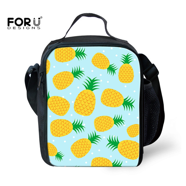 f64754209bf5 US $15.57 18% OFF|FORUDESIGNS School Insulated Lunch Bag for Kids Boy Girls  Pineapple Printing Lunch Box Tote Bag Thermo Cooler Picnic Food Bag-in ...