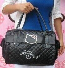 Lujo famosa marca para mujer bolsos casuales de cuero hello kitty bolsos de totalizador del hombro bolsas femininas couro