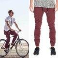 New Designer Mens Herostand Harem Joggers Sweatpants Elastic Cuff Drop Crotch Drawstring Biker Joggers Pants  Men maroon