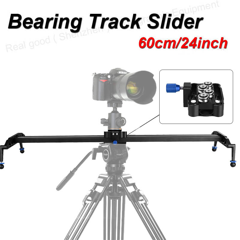 New Professional 60cm/24 Bearing Video Track Slider Dolly Stabilizer System for DSLR Camera Camcorder / Better Than Sliding-pad new 4 wheels mobile rolling sliding dolly stabilizer skater slider motorized push cart tractor for gopro 5 4 3 3 2 1 camera