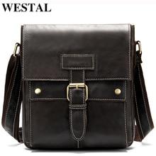 WESTAL shoulder bag for men genuine leather bags fa
