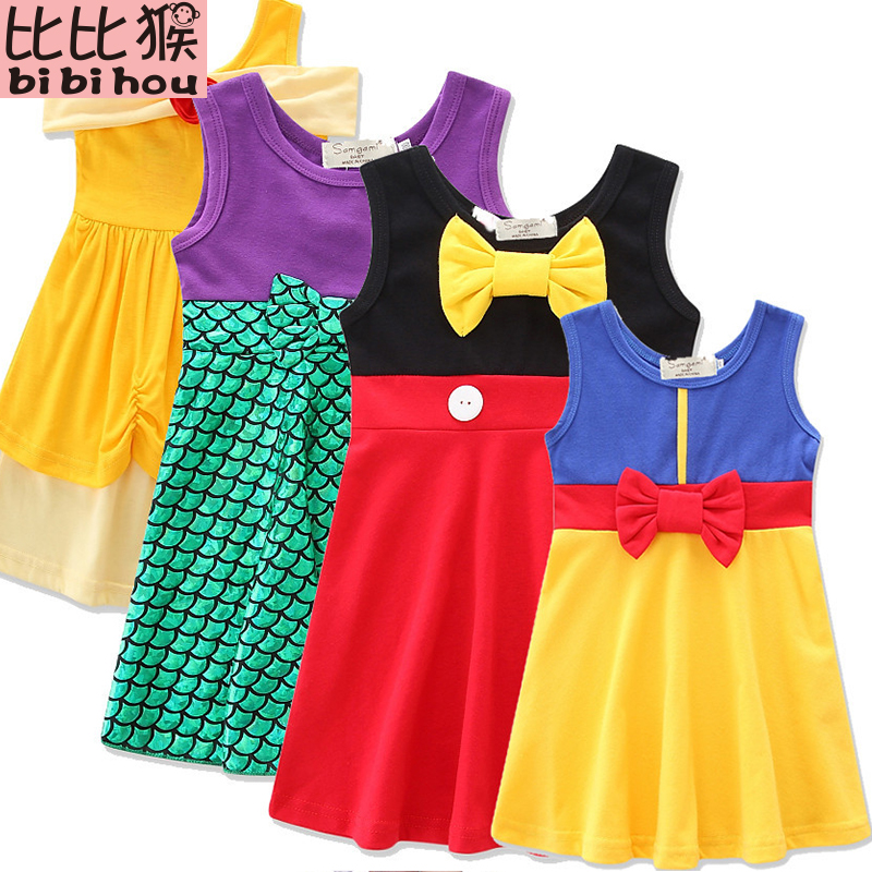 Girls Clothing snow white princess dress Clothing Kids Clothes,belle girls dress kids birthday dresses costume