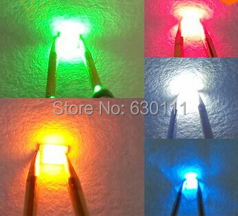 Active Components Apprehensive 1000pcs/bag 5 Colors Smd 1206 Led Ultra Bright Smd 1206 Led White/ Blue /red Diodes Jade Green /yellow Diodes Kit High Quality