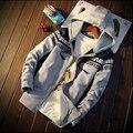 2016 carta Outono impressão 3d Hoodies Marca de Moda Sportswear Dos Homens homens dos homens Casaco Com Capuz zipper tamanho grande 3xl 4xl 5xl do hoodie moletom