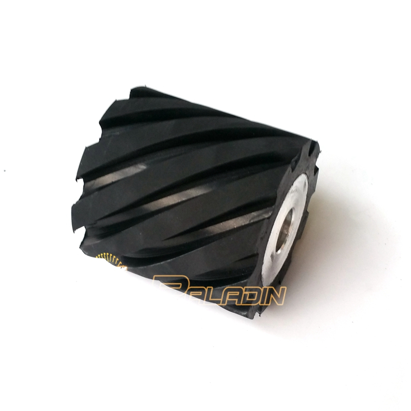 100*100mm Grooved Rubber Wheel Belt Grinder Part 100