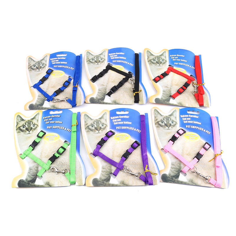 Kitten Harness Pet Leash Cat Harness Outdoor Walk For Small Cat Puppy Chihuahua Pet Harness Leash Cat Products in Cat Collars Leads from Home Garden